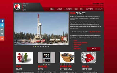Screenshot of Home Page cng-l.com - Home - captured Oct. 3, 2014