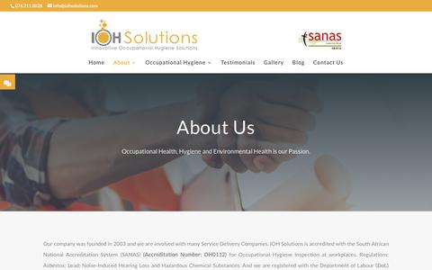 Screenshot of About Page iohsolutions.com - About | IOH Solutions - captured July 27, 2018