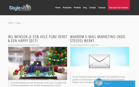 Screenshot of Blog styleshift.nl - Blog - Styleshift Webdesign Hengelo   Joomla CMS Experts - captured Nov. 11, 2017