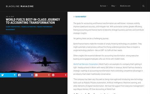 Screenshot of Case Studies Page blackline.com - World Fuel's Best-In-Class Journey to Accounting Transformation | BlackLine Magazine - captured Nov. 29, 2019