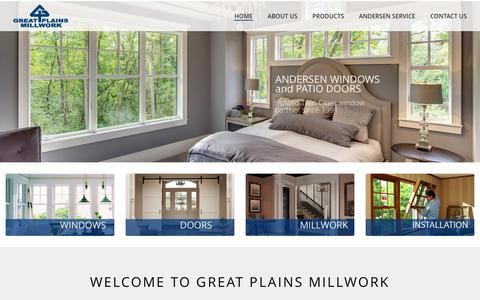 Screenshot of Home Page greatplainsmillwork.com - Great Plains Millwork | Andersen Windows | Doors | St Paul MN - captured July 17, 2016