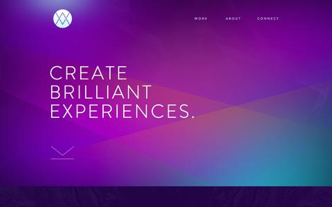 Screenshot of Home Page maximillianwest.com - MAXIMILLIAN WEST △ Design + Strategy for Visionary Brands - captured Dec. 27, 2016