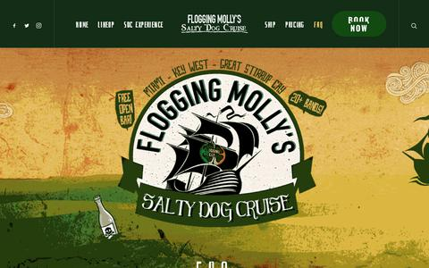 Screenshot of FAQ Page floggingmollycruise.com - FAQ – Flogging Molly's Salty Dog Cruise - captured Oct. 14, 2017