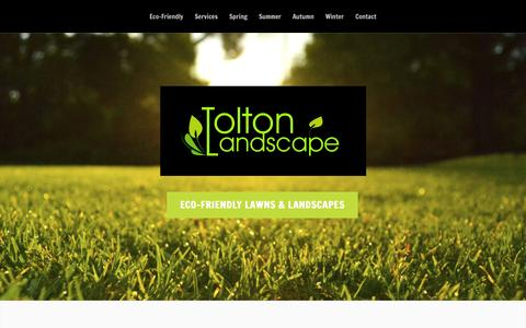 Screenshot of Home Page toltonlandscape.ca - Tolton Landscape - complete lawn & yard services - captured Aug. 12, 2015
