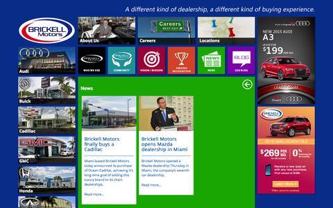 Screenshot of Press Page brickellmotors.com - Brickell Motors- About Us - captured Oct. 29, 2014