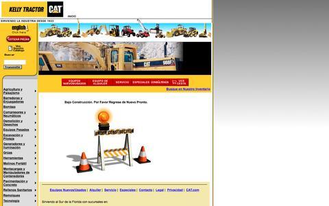 Screenshot of Landing Page kellytractor.com - Kelly Tractor: Crédito y Financiamiento - captured Aug. 12, 2016