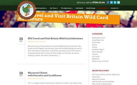 Screenshot of Blog wanderingduck.co.uk - Blog | Wandering Duck - captured Oct. 27, 2014
