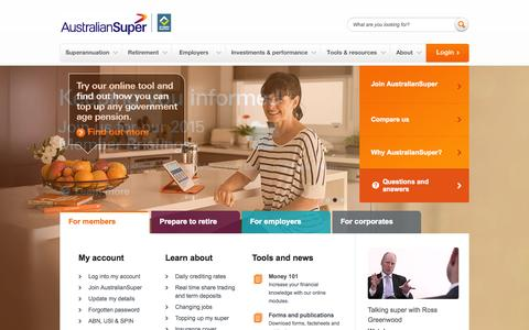 AustralianSuper - Superannuation - AustralianSuper