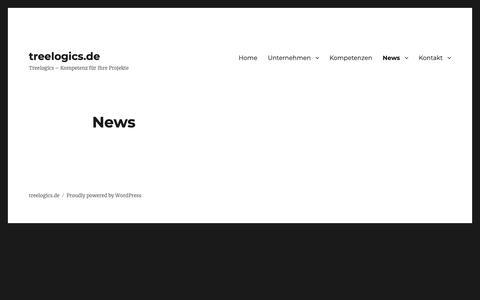 Screenshot of Press Page treelogics.de - News – treelogics.de - captured Oct. 20, 2018