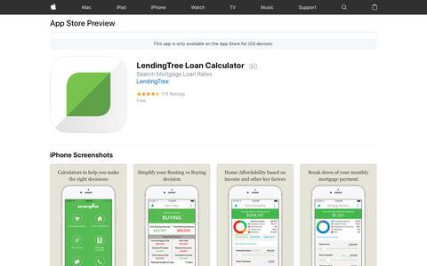 LendingTree Loan Calculator on the AppStore