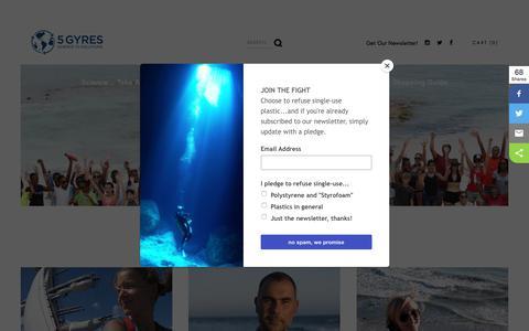 Screenshot of Team Page 5gyres.org - Team — 5Gyres.org - captured Sept. 22, 2018