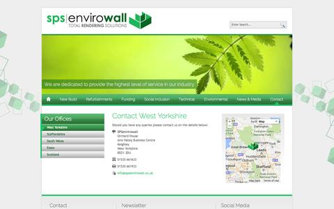 Screenshot of Contact Page spsenvirowall.co.uk - SPS Envirowall - Contact West Yorkshire - captured Oct. 3, 2014