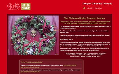 Screenshot of Home Page thechristmasdesigncompany.co.uk - Corporate Christmas Decoration London | The Christmas Design Company - captured Sept. 30, 2014