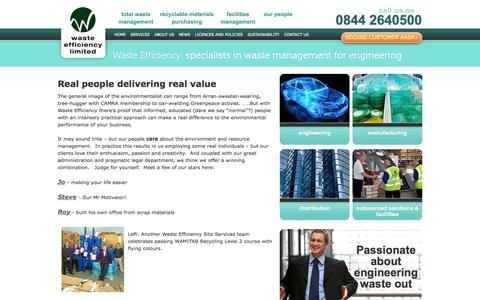 Screenshot of Team Page wasteefficiency.co.uk - Real people delivering real value | Services | Waste Efficiency – specialists in waste management for engineering - captured Oct. 7, 2014