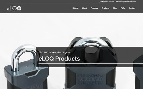 Screenshot of Products Page eloqsecurity.com - eLOQ Product Range - captured May 24, 2017