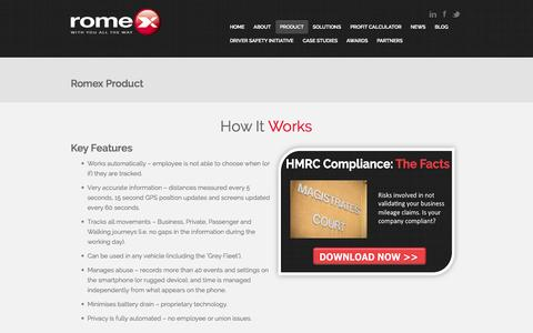 Screenshot of Products Page romexworld.com - How Romex Works | Romex - captured Oct. 7, 2014