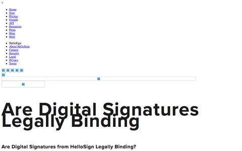 Are Digital Signatures Legally Binding