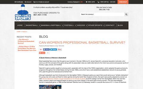 Screenshot of Blog headcoachsports.com - Blog - Head Coach Sports - captured July 29, 2017