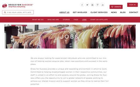 Screenshot of Jobs Page dressforsuccess.org - Jobs   Dress for Success - captured Jan. 26, 2016