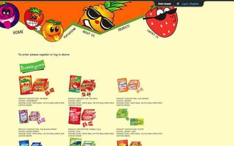 Screenshot of Products Page Login Page mzurisweets.com - Mzuri Sweets - Home of Mr Berry - captured Oct. 26, 2014