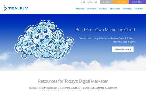 Screenshot of Home Page tealium.com - Tag Management, Digital Data Distribution, D3P - Tealium - captured Sept. 17, 2014