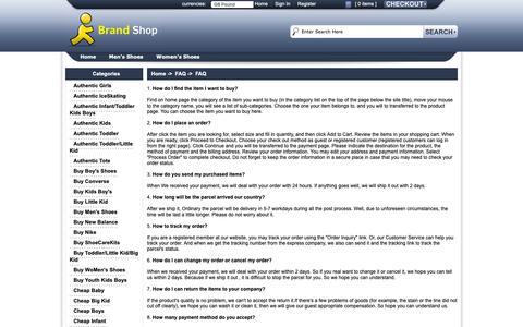 Screenshot of FAQ Page fromournestmag.com - FAQ : Buy Women's Shoes , Cheap Men's Shoes   Fromournestmag.com - captured Nov. 14, 2018