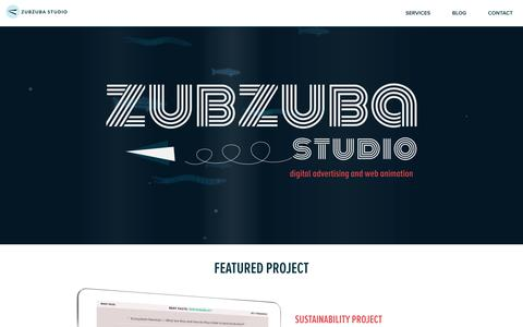 Screenshot of Home Page zubzuba.com - Zubzuba Studio - captured Aug. 6, 2018