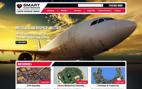 Screenshot of Home Page smartelec.com - Smart Electronics - Electronic Manufacturing - captured Oct. 9, 2014