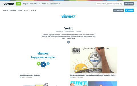 Verint on Vimeo