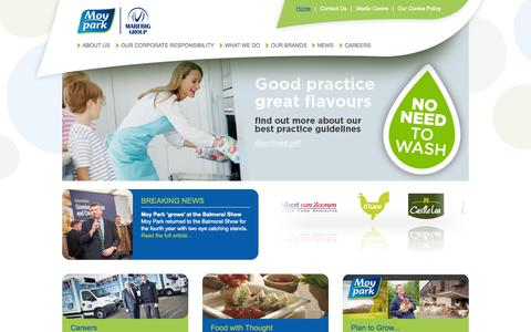 Screenshot of Home Page moypark.com - Welcome to Moy Park Limited - captured Sept. 18, 2014