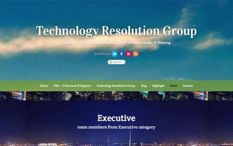 Screenshot of Team Page technologyresolution.com - Team - captured Oct. 7, 2014