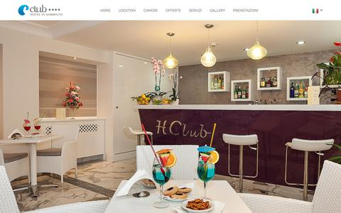 Screenshot of Home Page Terms Page hotelclubsorrento.com - Hotel Club Sorrento - Sito Ufficiale - captured Jan. 28, 2018