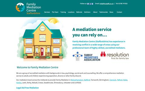 Screenshot of Home Page fmcstaffs.co.uk - Family Mediation Centre Staffs | Just another WordPress site - captured Oct. 10, 2018
