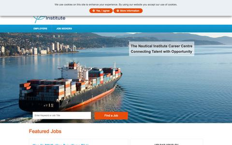 Screenshot of Jobs Page nautinst.org - Nautical Jobs - Nautical Institute - captured Oct. 18, 2018