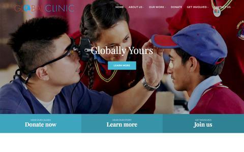 Screenshot of Home Page global-clinic.org - Global Clinic - captured Nov. 8, 2016