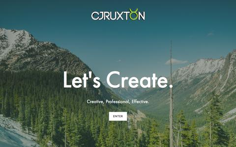 Screenshot of Home Page cjruxton.com - C.J. Ruxton - captured Aug. 7, 2015