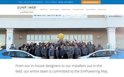 Screenshot of Team Page empower-solar.com - EmPower Solar - Island Park, NY - Our Team - captured July 13, 2016