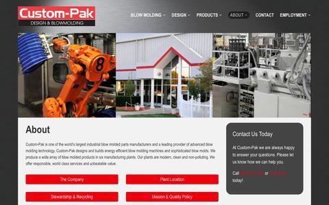 Screenshot of About Page custom-pak.com - About – Custom-Pak, Inc. - captured July 6, 2018