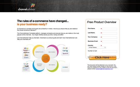 Screenshot of Landing Page channeladvisor.com - e-Commerce Platform | ChannelAdvisor - captured June 24, 2016