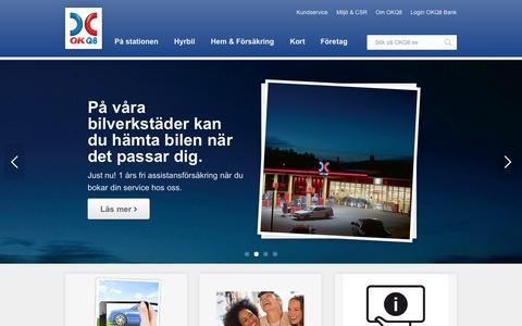 Screenshot of Home Page okq8.se - OKQ8 - För hela livet med bilen - captured Sept. 24, 2014