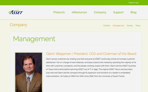 Screenshot of Team Page asset-intertech.com - Management | ASSET InterTech - captured Feb. 5, 2016
