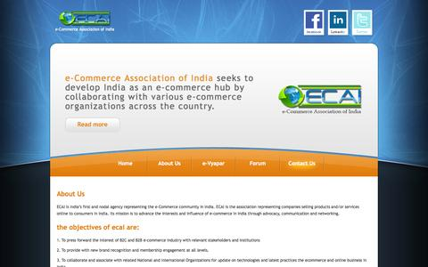 Screenshot of About Page ecai.co.in - Contact Us :: ECAI - captured Oct. 3, 2014