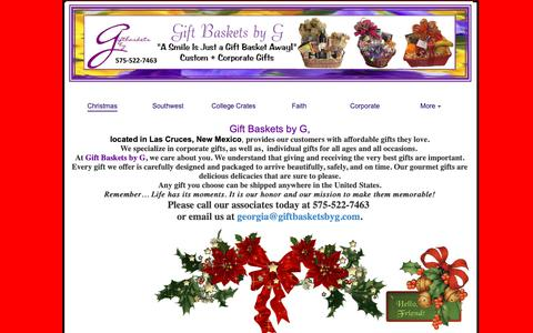 Screenshot of Home Page giftbasketsbyg.com - Gift baskets by G - captured Dec. 8, 2018