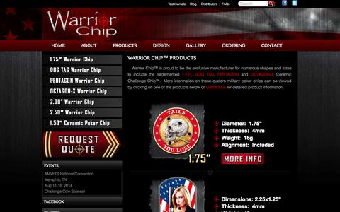 "Screenshot of Products Page warriorchip.com - WarriorChip.com – ""The Next Generation Challenge Coin™"" 