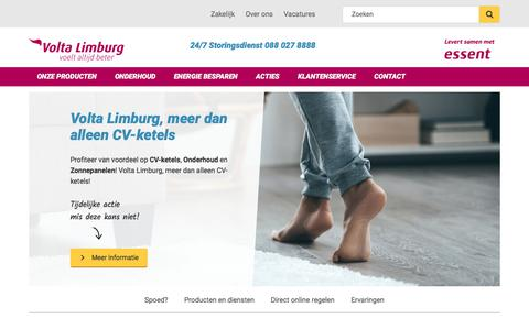 Screenshot of Home Page voltalimburg.nl - Volta Limburg - Specialist in CV-ketels en Installatie - captured Oct. 22, 2017
