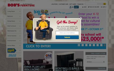 Screenshot of Home Page mybobs.com - Quality Home Furniture | Bob's Discount Furniture - captured Oct. 2, 2015