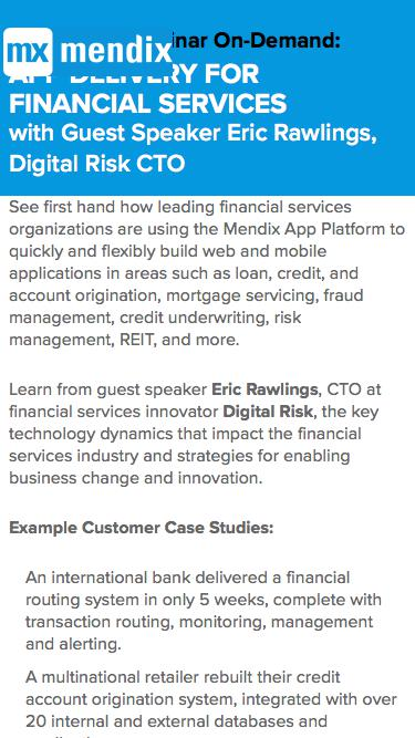 App Delivery for Financial Services with  Guest Speaker Eric Rawlings, Digital Risk CTO