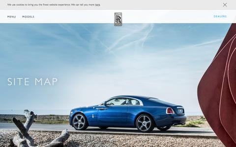 Screenshot of Site Map Page rolls-roycemotorcars.com - Site map - captured Sept. 12, 2016