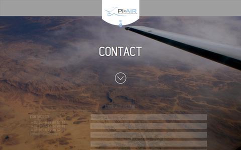 Screenshot of Contact Page pi2air.com - Contact | PI2AIR - captured July 18, 2018