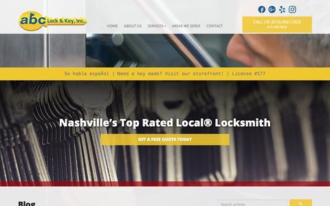 Screenshot of Blog 456lock.com - Blog | ABC Lock & Key Inc - captured Oct. 6, 2017
